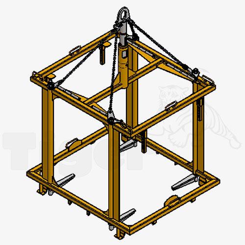 transportgestell f r ibc container lastaufnahmemittel f r 1000 liter beh lter tiger. Black Bedroom Furniture Sets. Home Design Ideas