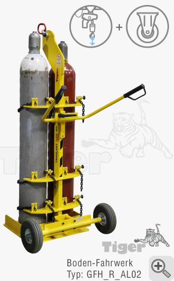 TigerHebezeuge Boden-Rollfahrwerk-GFH-4050l-R für Tiger Gasflaschenheber GFH