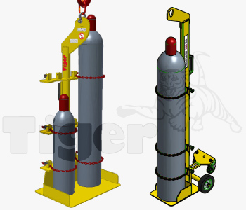 Gasflaschenheber mit Kran oder Stapler