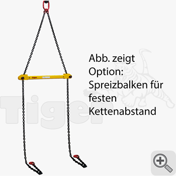 Option: Spreizbalken mit festem Abstand