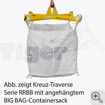 Kran-Kreuztraverse mit BIG BAG-Containersack